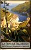 Art Prints of La Riviera Italienne Travel Poster, Travel Posters