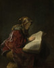 Art prints of Old Lady Reading by Rembrandt van Rijn