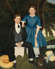 Art Prints of Brother and Sister by 19th Century American Artist
