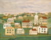 Art Prints of Twenty Two Houses and a Church by 19th Century American Artist
