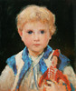 Art Prints of Marie Anker with Puppet, 1875 by Albert Anker