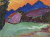 Art Prints of Red Evening, Blue Mountains by Alexej Von Jawlensky