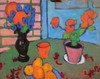 Art Prints of Still Life with Flowers and Oranges by Alexej Von Jawlensky