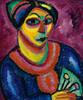 Art Prints of Woman with a Green Fan by Alexej Von Jawlensky