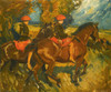 Art Prints of Rosie and Hazel Buxton and Dunston Harriers by Alfred James Munnings