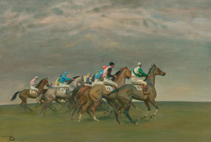 Art Prints of The Start of a Steeplechase by Alfred James Munnings