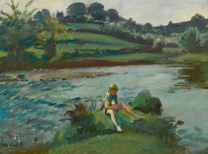 Art Prints of Withypool by the Barle, Exmoor by Alfred James Munnings