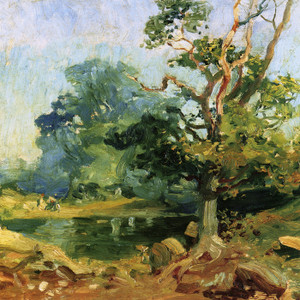 Art Prints of Landscape with a Tree by Alfred James Munnings