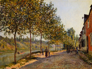 Art Prints of June Morning at Saint Mammes by Alfred Sisley