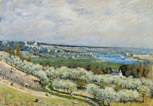 Art Prints of The Terrace at Saint Germain, Spring by Alfred Sisley