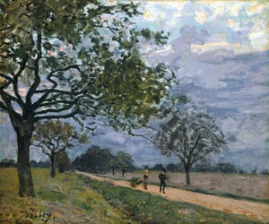 Art Prints of The Road from Versailles to Louveciennes by Alfred Sisley