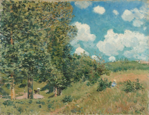 Art Prints of The Road from Versailles to Saint Germain by Alfred Sisley