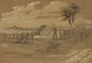 Art Prints of Advance of the Army towards Lewinsville, 1861 (21199L) by Alfred Waud