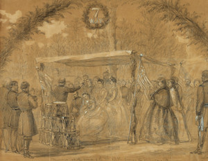 Art Prints of Marriage at the Camp, Army of the Potomac (21047L) by Alfred Waud