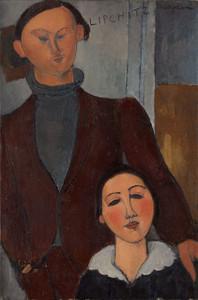 Art Prints of Jacques and Berthe Lipchitz by Amedeo Modigliani