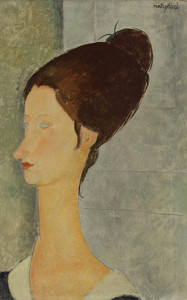 Art Prints of Portrait Jeanne Hebuterne by Amedeo Modigliani