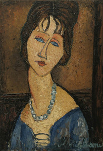 Art Prints of Portrait of Jeanne Hebuterne by Amedeo Modigliani