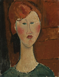 Art Prints of Red Haired Woman by Amedeo Modigliani