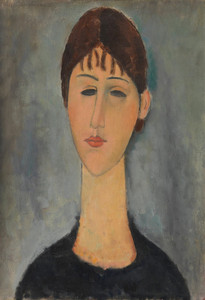 Art Prints of Portrait of Mme Zborowska by Amedeo Modigliani