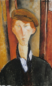 Art Prints of Young Man with a Cap by Amedeo Modigliani