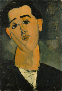 Art Prints of Portrait of Juan Gris by Amedeo Modigliani