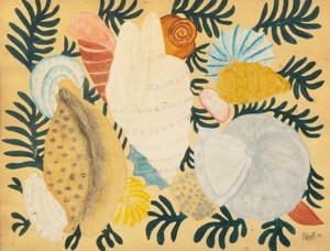Art Prints of Seashells and Seaweed, American School