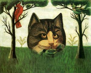 Art Prints of The Cat, 1840, American School