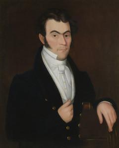 Art Prints of Portrait of a Dark Haired Gentleman by Ammi Phillips