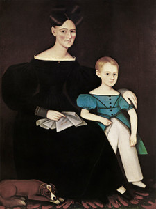 Art Prints of Rachel Ann Maria Overbach Ostander and Son Titus by Ammi Phillips