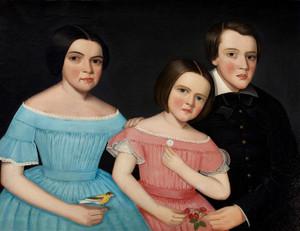 Art Prints of Three Children of Henry Joslen Carter by Ammi Phillips