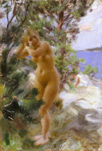 Art Prints of After the Bath by Anders Zorn