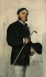 Art Prints of Banker Ludvig Arosenius, 1880 by Anders Zorn