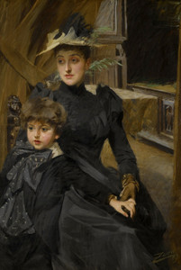 Art Prints of Mrs. Weguelin and Her Son by Anders Zorn