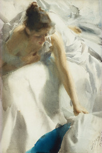 Art Prints of Reveil or Waking by Anders Zorn