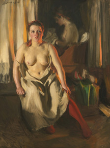 Art Prints of Red Stockings by Anders Zorn