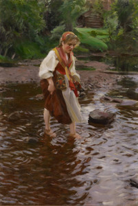 Art Prints of The Girl from Alvdalen by Anders Zorn