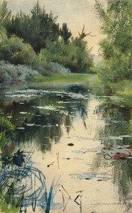 Art Prints of Landscape Study of Mora 1886 by Anders Zorn