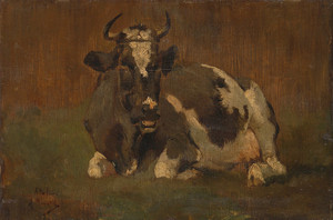 Art Prints of Cow in a Landscape by Anton Mauve