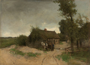 Art Prints of Cottage on the Dirt Road by Anton Mauve