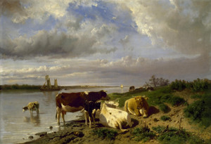 Art Prints of Landscape with Cattle by Anton Mauve