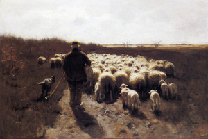 Art Prints of Return of the Flock by Anton Mauve