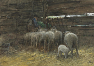 Art Prints of The Sheep Fold by Anton Mauve