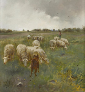 Art Prints of Tending Sheep by Anton Mauve