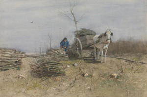 Art Prints of The Wood Gatherer by Anton Mauve
