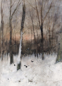 Art Prints of Trees at Dusk by Anton Mauve