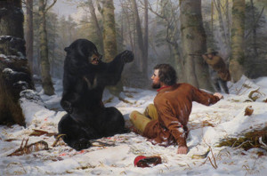 Art Prints of The Life of a Hunter, a Tight Fix by Arthur Fitzwilliam Tait