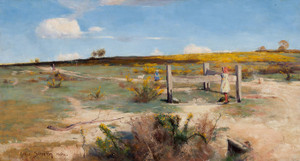 Art Prints of Early Summer Gorse in Bloom by Arthur Streeton
