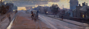 Art Prints of Hoddle Street 10 p.m. by Arthur Streeton