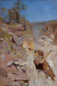 Art Prints of Fires on by Arthur Streeton