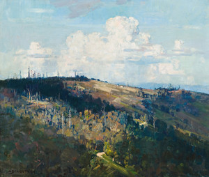 Art Prints of Mernda Hill by Arthur Streeton